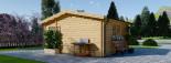Casa in legno NINA due stanze (44 mm) 6x6 m 36 mq visualization 6