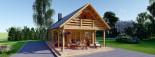 Casa in legno AURA (66 mm) 100 mq + 35 mq di porticato visualization 3