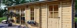 Casetta in legno LEA con tettoia integrata (44 mm) 7x4 m 28 mq visualization 7