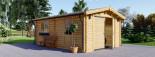 Garage in legno (44 mm) 4x6 m  visualization 1