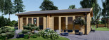 Casa in legno MARINA (44 mm) 8x6 m 48 mq visualization 2