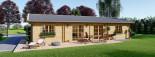 Casa in legno coibentata LIMOGES 103 mq visualization 3