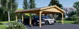 Tettoia auto in legno doppia CLASSIC 6x6 m visualization 1
