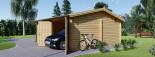 Garage in legno doppio ALTERNATIVE (44 mm) 6x6 m visualization 5