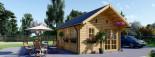 Casa in legno coibentata SCOOT 27 mq + 10 mq di mezzanino visualization 2