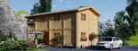 Casa in legno TOULOUSE (66 mm) 100 mq + 20 mq di porticato visualization 7