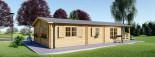Casa in legno coibentata DONNA 63 mq + 11.5 mq di porticato visualization 4