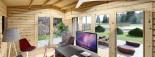 Casetta in legno TINA 5.5x4 m 16.5 mq + 5.5 mq di porticato visualization 9