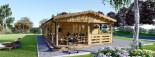 Casa in legno TOSCANA (66 mm) 53 mq + 29 mq di porticato visualization 2