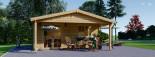Casetta da giardino CAMILA (66 mm) 6x4 m 24 mq + 11 mq di porticato visualization 3