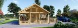 Casa in legno ANGERS (44 mm) 36 mq + terrazza 19 mq  visualization 3