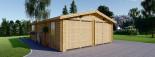 Garage in legno doppio (44 mm) 6x9 m visualization 3
