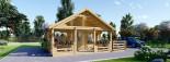 Casa in legno coibentata ANGERS 36 mq + terrazza 19 mq  visualization 3