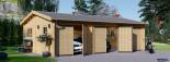Garage in legno triplo (44 mm) 9x6 m  visualization 2