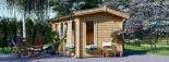Casetta in legno coibentata POOLHOUSE 4x3 m 12 mq visualization 6
