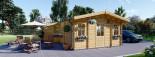 Casa in legno DIJON (44 mm) 44 mq visualization 1