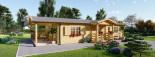 Casa in legno coibentata DONNA 63 mq + 11.5 mq di porticato visualization 1