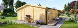 Casa in legno MILA (44 mm) 56 mq visualization 6