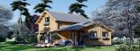 Casa in legno HOLLAND (66 mm) 113 mq + 13.25 di porticato visualization 4