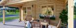 Casetta da giardino CAMILA (44 mm) 6x4 m 24 mq + 11 mq di porticato visualization 8