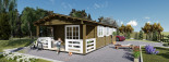 Casa in legno HYMER (66 mm) 42 mq + 10 mq di porticato visualization 8