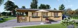 Casa in legno HYMER (66 mm) 42 mq + 10 mq di porticato visualization 7