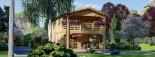 Casa in legno TOULOUSE (66 mm) 100 mq + 20 mq di porticato visualization 3