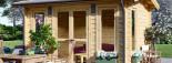 Casetta in legno coibentata POOLHOUSE 4x3 m 12 mq visualization 7