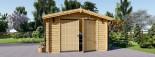 Garage in legno (44 mm) 4x6 m  visualization 3