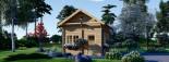 Casa in legno AVIGNON (44 mm) 20 mq + 16 mq di mezzanino visualization 2