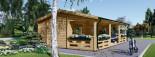 Casa in legno AMELIA (44 mm) 32 mq + 20 mq di porticato visualization 5