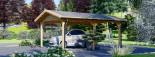Tettoia auto in legno 5.5x4.2 m visualization 2