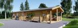 Casa in legno AVON (66 mm) 78 mq + 11.5 mq di porticato visualization 7