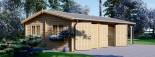 Garage in legno doppio (44 mm) 6x6 m + tettoia auto in legno 3x6 m visualization 5